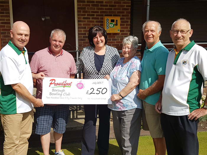 Borough Bowling Club MADL Donation