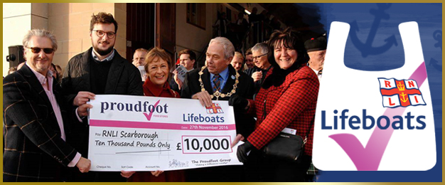 Proudfoot £10,000 Donation To RNLI Scarborough
