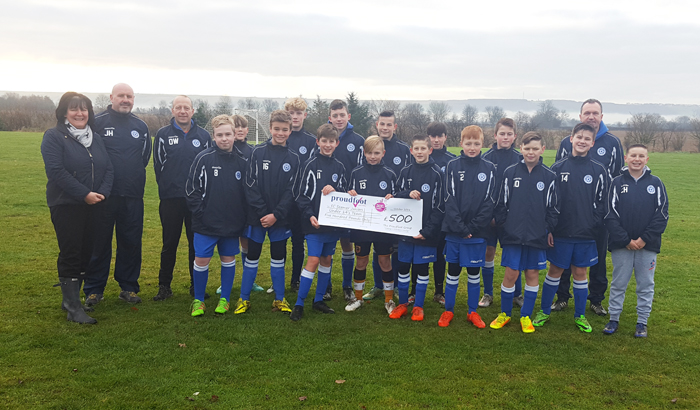 Seamer Stormers FC £500 Donation