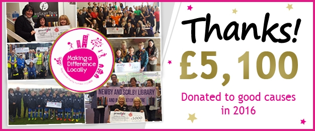 £5,100 Donated To Good Causes In 2016