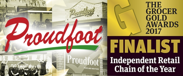 Going for gold! Proudfoot shortlisted for Independent Retail Chain of the Year at the Grocer Gold Awards