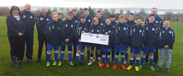 £500 MADL Donation To Seamer Stormers FC