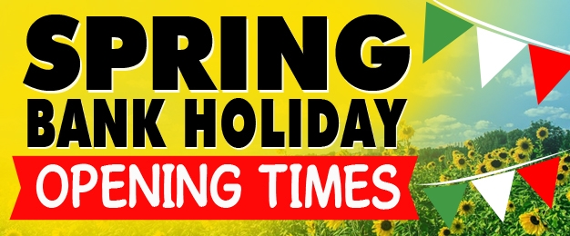 Spring Bank Holiday Opening Hours