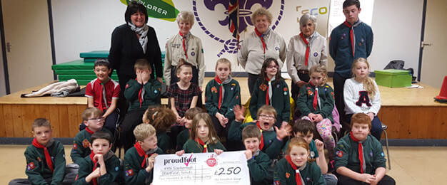 Proudfoot £250 Donation To 49th Eastfield Scout Group