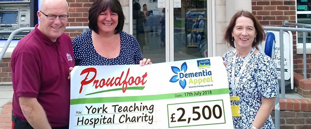 £2,500 Donation To Dementia Appeal