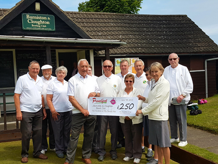 MADL Donation To Burniston & Cloughton Bowls Club