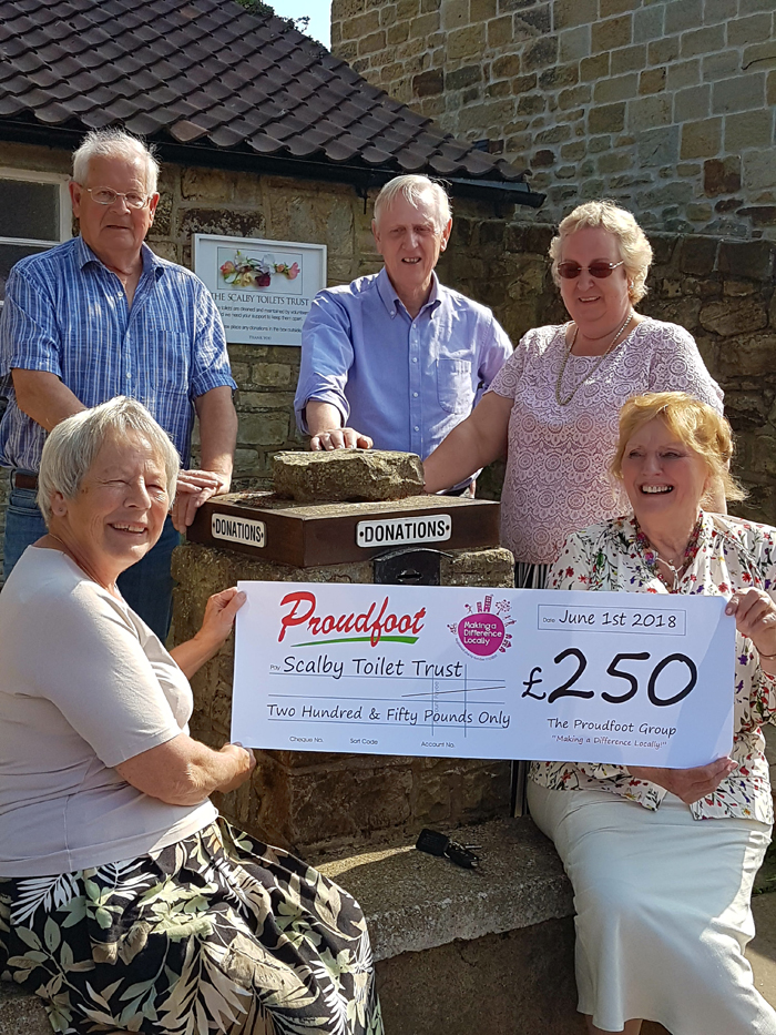 £250 MADL Donation To Scalby Toilet Trust