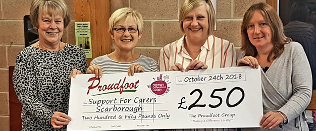 MADL Donation To Support For Carers Scarborough