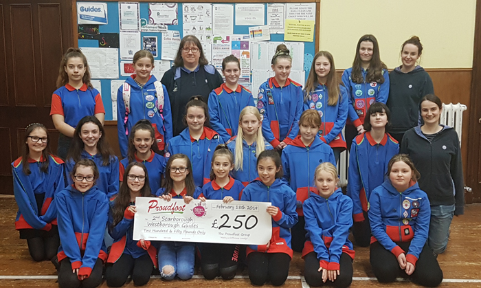 Proudfoot Donation To 2nd Scarborough (Westbrough) Guides