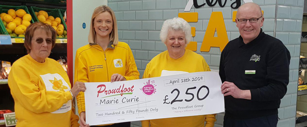Proudfoot Donate £250 to Marie Curie