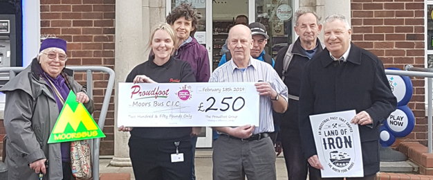 Proudfoot Donation To Moors Bus