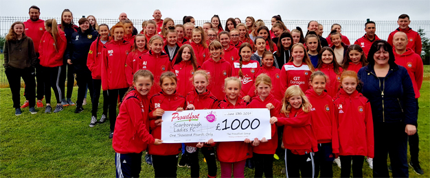 Scarborough Ladies FC MADL Donation