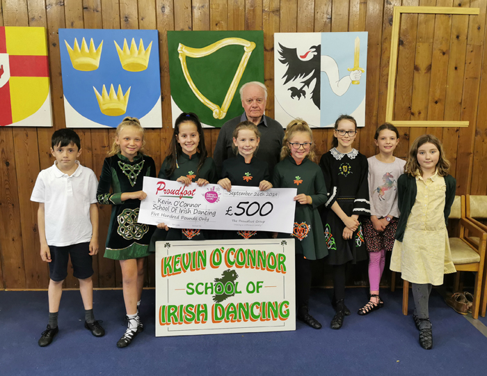 Proudfoot Donate £500 To Irish Dancing School