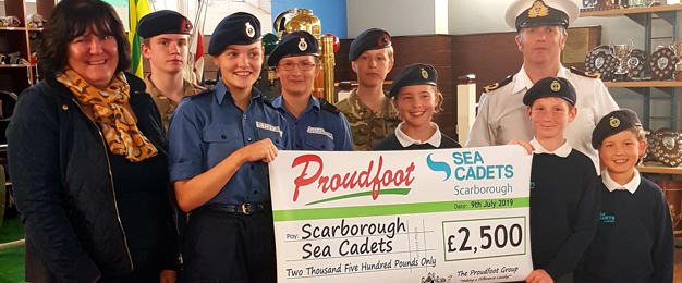 £2,500 Donation To Scarborough Sea Cadets