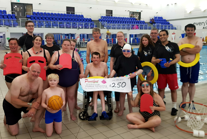 Proudfoot MADL Donation Scarborough Disabled Swimming Group