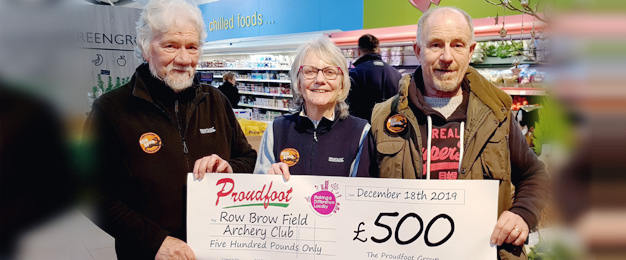 Proudfoot Donate To Row Brow Field Archery Club
