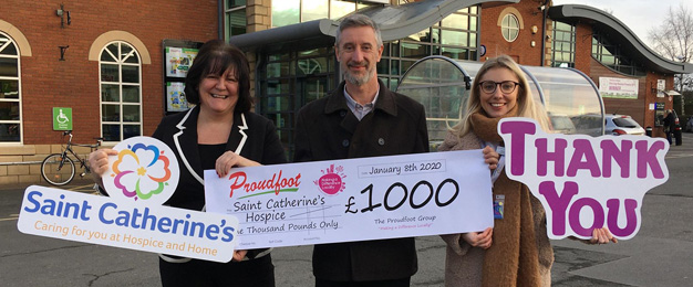 Proudfoot Donate £1,000 To St Catherine's Hospice