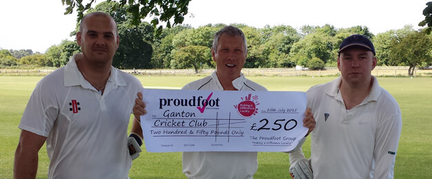 Ganton Cricket Club MADL Donation