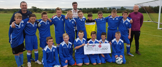 Seamer Juniors FC £500 Donation Proudfoot