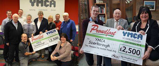 £2500 Donation To YMCA Scarborough