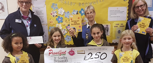 £250 MADL Donation To 1st Scalby Brownies