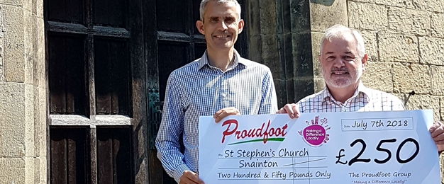£250 MADL Donation To St Stephen's Church Snainton