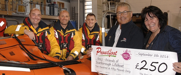 £250 MADL Donation to RNLI Scarborough