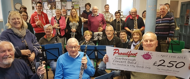 £250 MADL Donation To Scarborough Concert Band