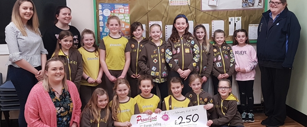 Proudfoot supermarkets fund group trip for 1st Forge Valley Brownies