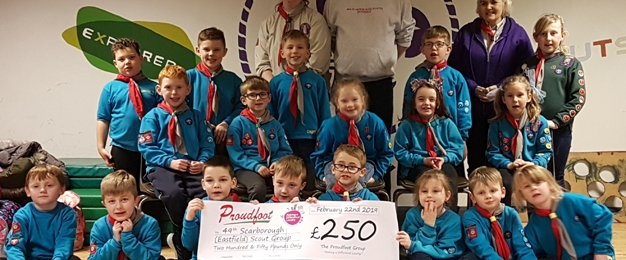 Proudfoot supermarkets help heat up the hut for 49th Scarborough (Eastfield) Scout Group