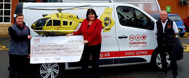 Proudfoot Customers Help Support Yorkshire Air Ambulance