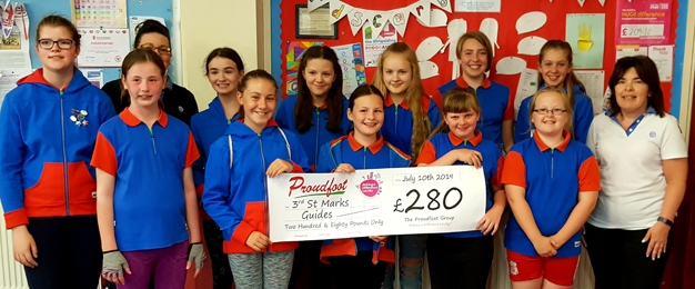 £250 Donation To 3rd Scarborough St Mark's Guides