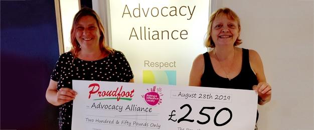£250 Donation To Advocacy Alliance