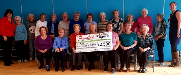 Proudfoot Support Local Age UK Branch with Carrier Bag Funds