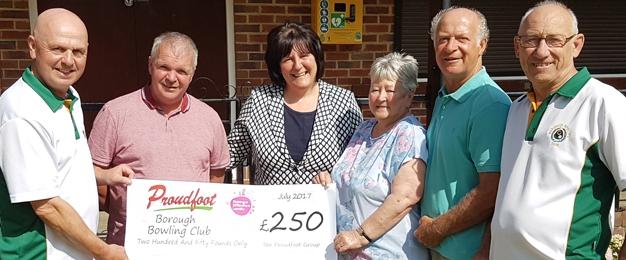 £250 MADL Donation To Borough Bowling Club