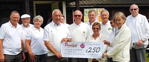 £250 MADL Donation To Burniston & Cloughton Bowls Club