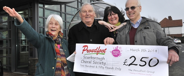 £250 MADL Donation To Scarborough Choral Society