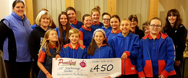 £450 MADL Donation to 15th Scarborough Guides