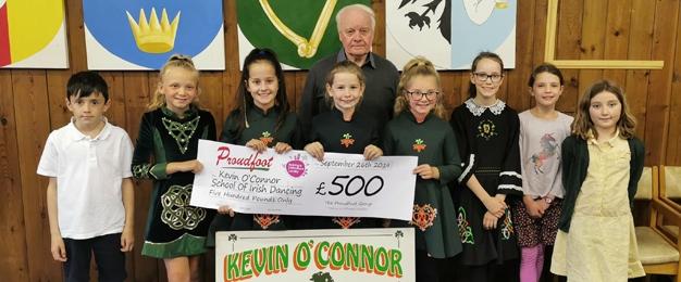 Proudfoot Donate £500 To Irish Dancing School