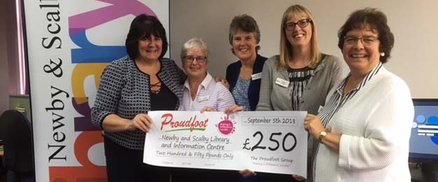 £250 Donation To Newby & Scalby Library Bag Fund