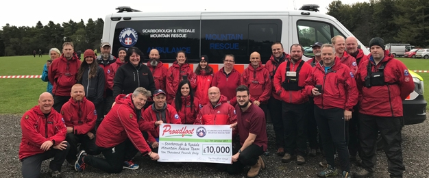 £10,000 DONATION TO SCARBOROUGH & RYEDALE MOUNTAIN RESCUE TEAM