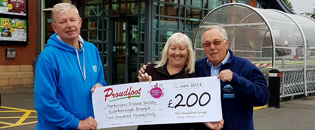 £200 MADL Donation To Parkinsons Disease Society