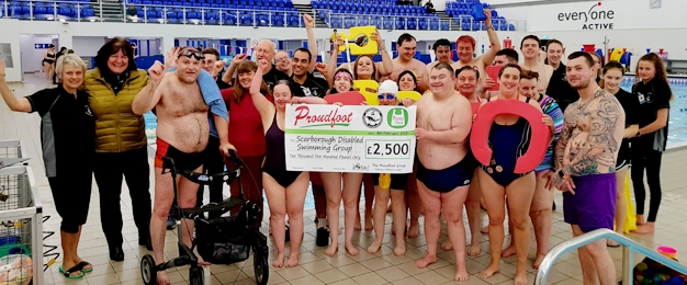Proudfoot Customers Help Support Scarborough Disabled Swimming Group