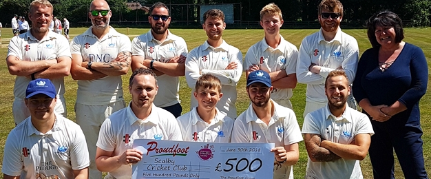 £500 Donation To Scalby Cricket Club
