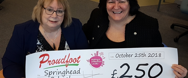 Proudfoot Donate To Springhead School Music Project