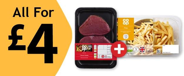 Steak & Chips for £4