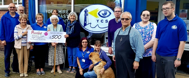 £500 Donation To Yorkshire Coast Sight Support